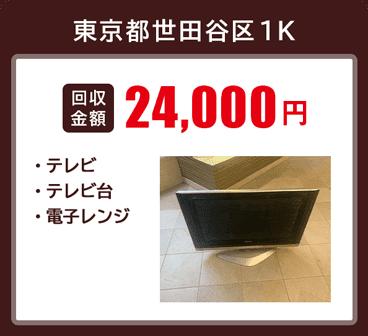 東京都世田谷区の不用品回収事例、テレビ、テレビ台、電子レンジの処分を行いました