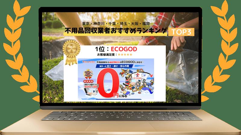 関東から九州までの不用品回収ランキングで1位獲得